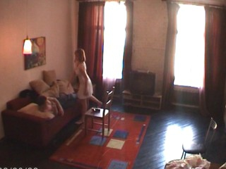 Forcible Age Teenager rouge seduces her partner and starts sex action on the couch