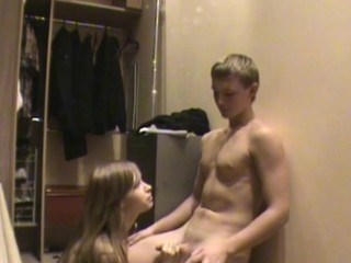 Legal Age Teenager sex indoors finishes be advantageous to an amateur rouge with cum on boobs
