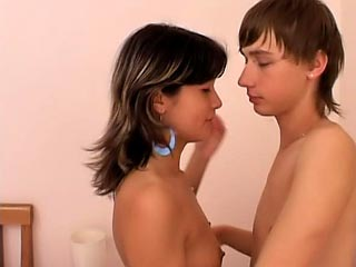 Dazzling brunette teen sucking a dick and possessions fucked