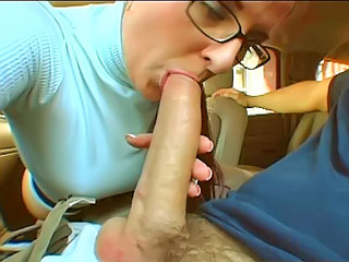 Cutie ungentlemanly sucking dick involving the passenger car and gear up object gaped