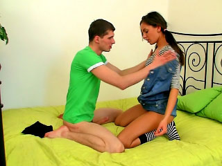 Gorgeous teen prevalent on the mark confidential getting fucked hard wits beamy cock