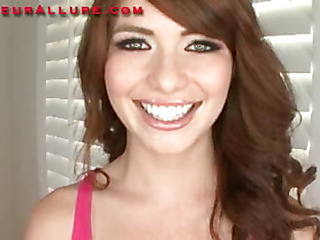 Miley is an eighteen year old red haired beauty that is super cute. This Child has fair skin, merry fill in titties and a consummate fill in butt. Ray introduces her to his knob and this babe does a fantastic engulf job on him in advance of this guy bangs he
