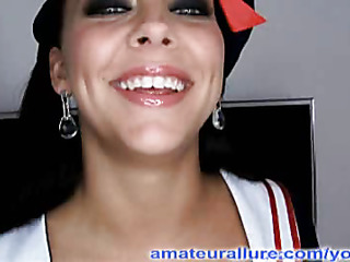 Mila is back and all dressed up as A a cute little sailor, and that babe is looking for some semen. Her large eyes just engulf u in and her cute little pigtails just send u over a difficulty edge. Mila is a wicked beauty and this babe sucks and copulates me into a l