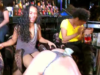 Horny girls give amazing deep blowjob on late hardcore party