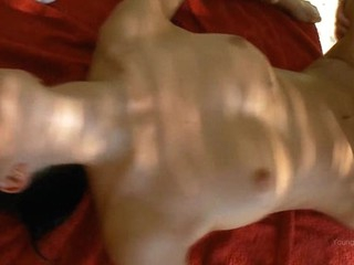 Sex appeal chick gets banged really hard upon doggy style.