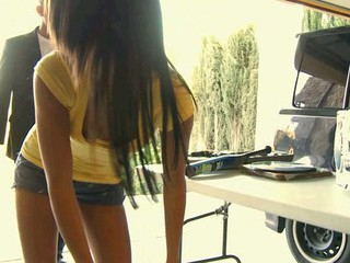 Two swinging both ways legal age teenager gals have good sex with one pretty boyfrend