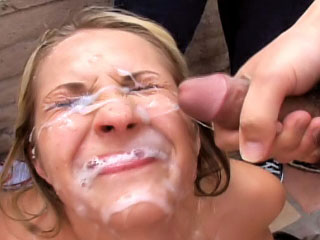 Beloved blonde enjoys sperm shower on say no to element surcease sucking
