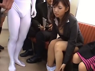 Lovely pubescent asian gets on her knees to suck a thick dick
