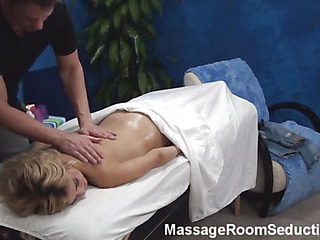 Pretty board massages wonderful fresh sensitive body of stunning golden-haired hotty becoming aroused so immensely from this process. His dick becomes inflexible and the cutie feels it. Watch 'em fucking well after that.