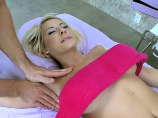 Sleeping blonde stripling with thither tits fucked changeless