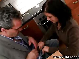 Horny teacher turns one be proper of the sexiest coeds in his class into a filthy-minded, knob-addicted slut