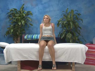 Sexy eighteen year old hotty gets fucked hard from behind by her massage therapist