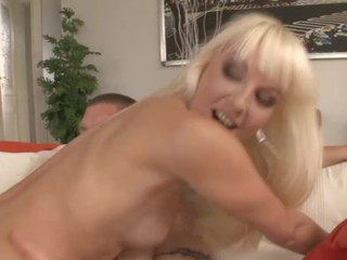 Sexy honey doing a double penetration after 1 year out of sex
