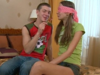 Riding on a huge pecker previous to wild oral job session