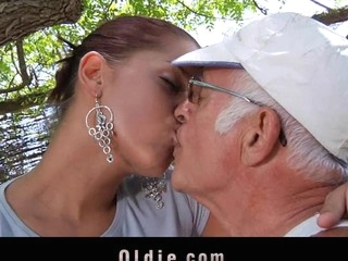 What a eager old stud would not want to be fucked off out of one's mind engulf a pretty youthful cutie. Angel Rivas knows how to satisfy the dicks and can't live without being wazoo nailed off out of one's mind 'em.  Two old knob for a youthful cute booty here