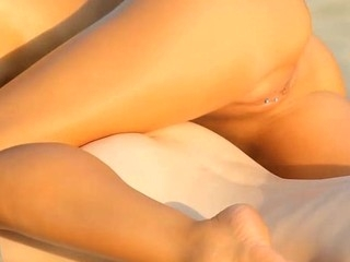 Fiery sexy together with wild cookie playing for sweet angel next door