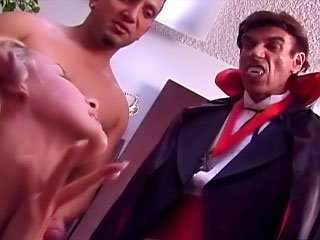 Sweet hot incomparable babe sucking many cocks and taking cumshot
