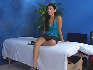Magnificent cute teen non-attendance hard sex after hot massage