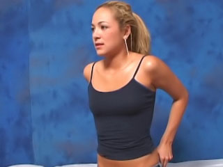 Awesome blonde tolerant loves to suck cock and succeed in banged