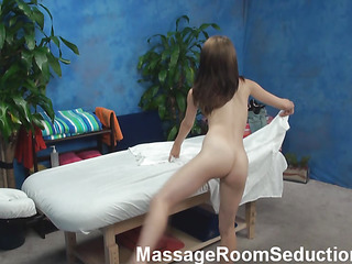 Petite cutie with priceless fresh forms of body is becoming bare first of all and then gets massaged by impressive stud. Suddenly they the one and the other feel strong temptation to fuck and no thing could stop 'em from it.