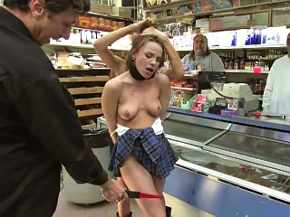 Seething hot European neonate gets tied up and fucked in public