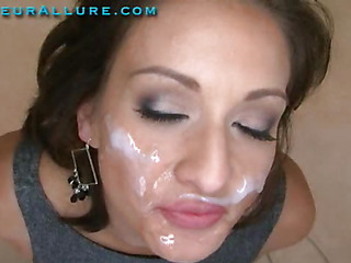 Makalie has a fresh company and is looking for a very specific recent employee to demo her product in womens homes. Jizz Facial Solutions sends out guys to get blowjobs and dump large loads of cum on womens faces then feed 'em the cum. My dream job. The interview consists of an outstanding fellatio and cum-hole fuck, followed by a cum facial. I love this job. I hope I get it.