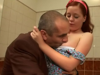Old dirty teacher fart having it away his hot pretty student