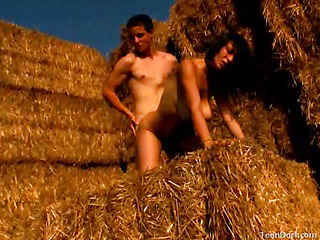 Those two very horny nubiles are always looking for fresh with the addition of very nasty places to have sex outdoors. This farmer`s field appeared to be like the ideal place this day. The hay bales would make a flawless hiding spot. On the other side was a busy road with the addition of houses, but on this side those two nubiles started to take off their clothing. This Babe had to have his pecker with the addition of in a short time this babe had it in her mouth. But even about excellent yet was seeing that shlong thrusting unfathomable inside of her tender muff. It made her huge boobs bounce with each with the addition of eveyr thrust.