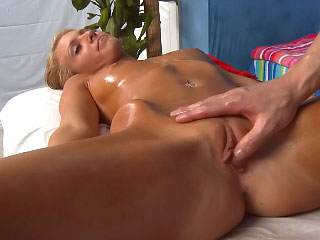 Chap-fallen flaxen-haired chick plays with along to brush clit while riding a distinguished dick