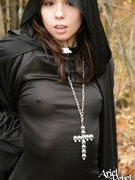 Ariel Rebel ready to underhandedness or treat as sexy witch