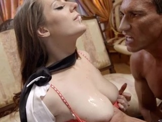 Breasty beauty rendition a really nasty unfathomable mouth