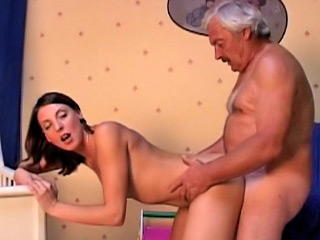 Superannuated dirty man going to bed amateur hot brunette ungentlemanly at room