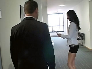 Naughty secretary with sweet ass getting drilled readily obtainable office