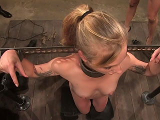 Vehement hot European neonate gets tied up and fucked in public