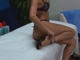 Tattooed shaved blonde mollycoddle gets cock blooming by a big dick
