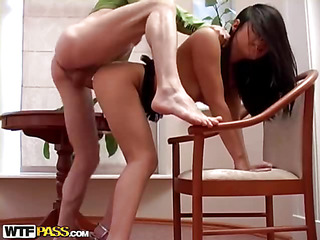 If u're a sucker for hawt and slutty Oriental chicks, this amateur porn clip is just what u need! This brunette hair hawt chick strips undressed in turn of the brush boyfriend, and this guy knows what's on the brush mind. The sinful hottie is a real pro at unfathomable throating, and that babe's always glad adjacent to show off the brush capacity adjacent to the brush fellow. Then this babe bows over, letting him drill the brush excreting twat as hard as this chab feels like. Want To watch the rest of this unforgettable unfathomable face hole porno? Well, go on and watch it!