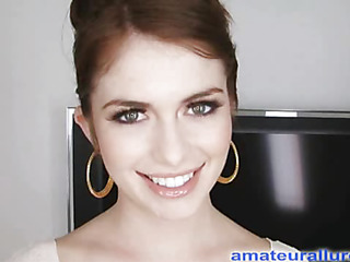 Miley is eighteen years old, very cute added to that babe has returned for their way first cum facial ever! This is the second time Miley has visted AmateurAllure.com, added to I am going get my rid of at their way this time. That Babe has an amazing, taut body added to gorgeous face, added to this babe really can't live without engulfing dick. After that babe blows me for a whilst, I bent their way over added to fucked their way taut little muff. This Babe is a fun little spinner. After a lot of fucking I rid of a beefy load all over their way face.