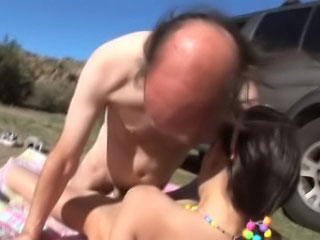 Brutal elderly fart screwing beautiful added to horny brunette youthful