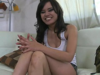 Pretty darling gets unfathomable doggystyle after wanking rod