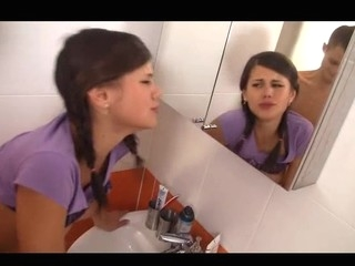 Beautiful Little Caprice fucking her buddy in the baths;