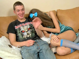 Elegant teen procurement fucked constant and taking cumshot