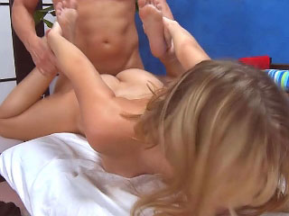 Awesome cute youngster sucking a dick and getting fucked hard
