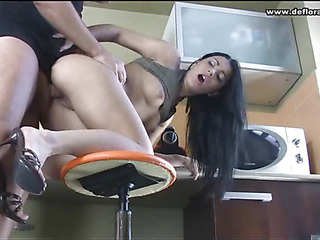 It is thrilling to plunge the dick into tight innocent pussy