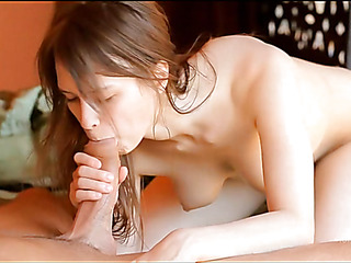 Attractive gay blade stuffs mouth and twat of cutie by large beamy penis
