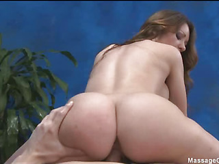 Lovely babe loves massage and obese cock  in her pussy